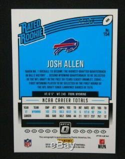 Josh Allen 2018 Donruss Optic Rated Rookie AUTO AUTOGRAPH Purple Stars /50 BILLS