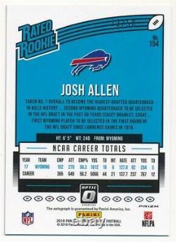 Josh Allen 2018 Donruss Optic Rookie Purple Stars Autograph Bills Auto Sp #13/50