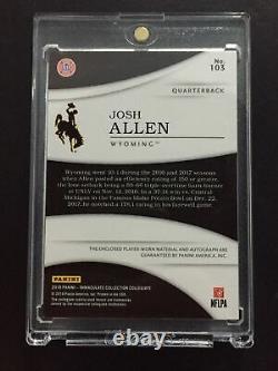 Josh Allen 2018 Immaculate Idaho Potato Bowl Logo Patch RC On Card Auto SN 4/5