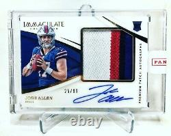 Josh Allen 2018 Immaculate Rookie Patch Auto #25/99 RPA 4 Color Jersey Sealed