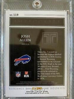 Josh Allen 2018 Impeccable Rookie Dual Patch Auto 69/75 Bills RPA Autograph