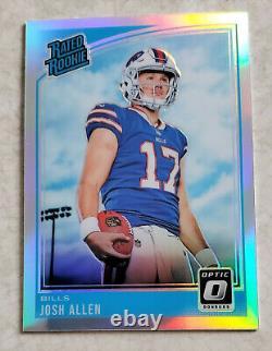Josh Allen 2018 Panini Donruss Optic Rated Rookie Silver Nm #154 Buffalo Bills
