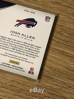 Josh Allen 2018 Panini Limited, RC RPA ON-CARD Auto, /20! 2 Color Patch