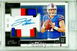 Josh Allen 2018 Panini ONE Dual 4 Color Rookie Patch Auto /125 Buffalo Bills RC