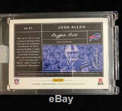 Josh Allen 2018 Panini One Blue Rc Auto Autograph Jersey Patch /75 Buffalo Bills