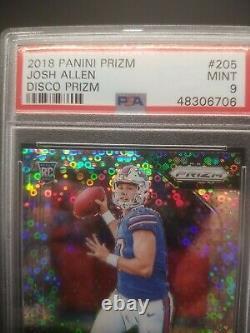 Josh Allen 2018 Panini Prizm Disco Rookie Card Psa 9 Mint