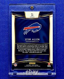 Josh Allen 2018 Panini Select Silver Prizm Concourse Level Rookie Rc Bills