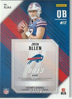 Josh Allen 2018 Panini XR 1/1 Auto Game Used Glove 1 of 1 RC Rookie card