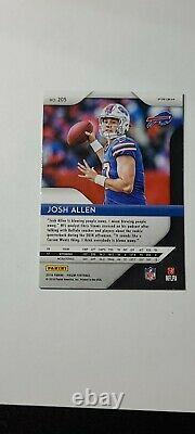 Josh Allen 2018 Prizm Blue Lazer Rookie Card No. 205 Bills RC Refractor