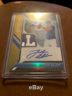 Josh Allen 2018 Prizm Football Gold Rookie Patch Autograph #9/10