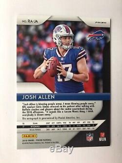 Josh Allen 2018 Prizm Silver Rookie Auto Rc Autograph Bills SP