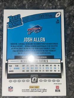Josh Allen 2018 Rookie Optic Aqua Holo /299 SP