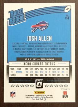 Josh Allen 2018 #optic Rookie Silver Holo Refractor #154