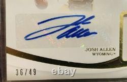 Josh Allen 2019 Immaculate #3 Collegiate Helmets Auto #36/49 Buffalo Bills