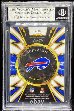Josh Allen 2019 Panini Select Sparks Black Prizm Laundry NFL Players 1/1 BGS 9