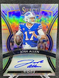 Josh Allen 2019 Select Football Silver Auto 17/25 1/1 Jersey Number