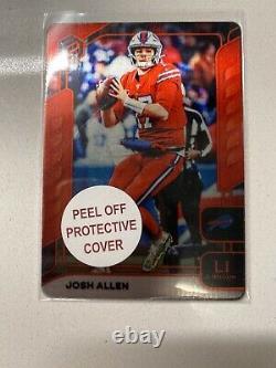 Josh Allen 2020 Panini Elements Lithium Red 3/3 SSP Buffalo Bills Prizm Rookie