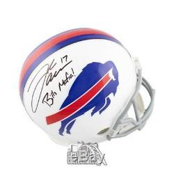 Josh Allen Bills Mafia Autographed Buffalo Bills Full-Size Football Helmet JSA