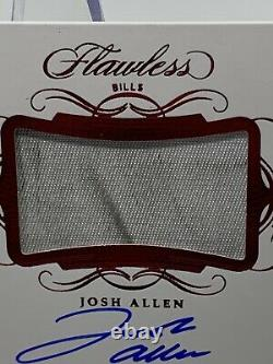 Josh Allen Flawless 2019 Ruby 5/5 Dirty Game Used Patch