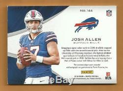 Josh Allen RC Limited Rookie Auto & 4 Color Patch Football Card 21/125