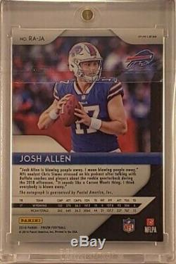 Josh Allen auto autograph 2018 Panini Prizm Green Holofoil Buffalo Bills Rookie