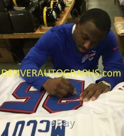 LeSean McCoy Autographed/Signed Buffalo Bills XL White Jersey JSA 21634