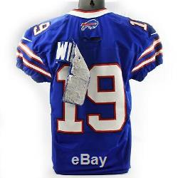Mike Williams Buffalo Bills 2014 Nike Game Used Blue Home Jersey #19