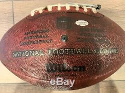 NFL Buffalo Bills Jordan Poyer game used football INT vs Steelers 2019