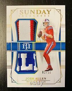 National Treasures Josh Allen Sunday Treasures Patch Logo 2/10 Buffalo Bills HOT