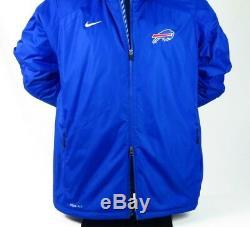 Nike Buffalo Bills Jacket Storm Fit 2XL Sideline Men's Coat Football Winter Blue