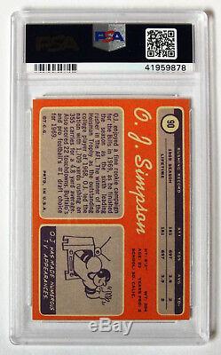 O. J. Simpson 1970 Topps Football #90 PSA NM-MT 8