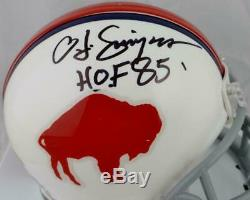 O. J. Simpson Autographed Buffalo Bills 65-73 TB Mini Helmet With HOF- JSA W Auth