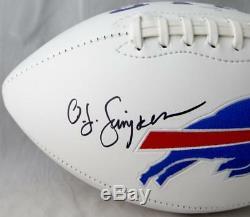 O. J. Simpson Autographed Buffalo Bills Logo Football With HOF- JSA Witnessed Auth