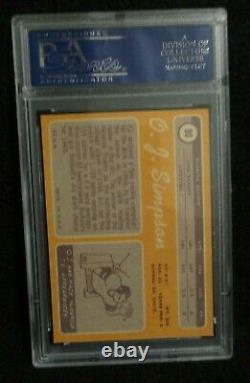 O. J. Simpson Buffalo Bills 1970 Topps Football #90 RC Rookie Card PSA NM 7