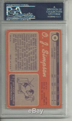 O. J. Simpson Oj Auto Signed 1970 Topps Rookie Card #90 Buffalo Bills Hof Psa/dna