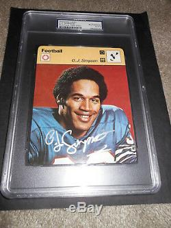 O. J. Simpson Oj Auto Signed 1977 Sportscaster Card #03-07 Buffalo Bills Psa/dna