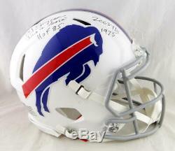 O. J. Simpson Signed Bills F/S Speed Authentic Helmet With3 INSC- JSA W Auth Black