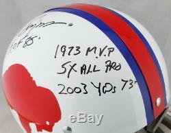 O. J. Simpson Signed Buffalo Bills F/S TK 65-73 Helmet with 7 Insc- JSA W Auth Blk