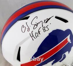 OJ Simpson Autographed Bills Full Size Speed Helmet With HOF JSA W Auth