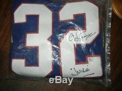OJ Simpson Buffalo Bills signeD autographed blue football jers Certified COA G A