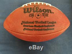Official Hand Painted Game Ball New England Patriots vs Buffalo Bills Nov 1978