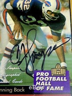 Oj Simpson 1995 On Card Autograph Signed Enor Hof Buffalo Bills Usc Beckett Bgs