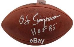 Oj Simpson Autographed/signed Buffalo Bills Leather Football Hof 10139 Jsa