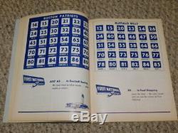 Original Nm 11/24/1963 Complete Buffalo Bills / Boston Patriots Football Program