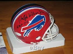 Ralph Wilson Jr signed Buffalo Bills HOF 2009 NFL Mini Helmet JSA Owner