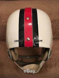 Riddell Kra-Lite Old RK2 Suspension Football Helmet 1965-69 Buffalo Bills RARE