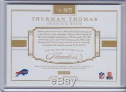 THURMAN THOMAS 2017 Flawless Game Used Jersey Patch Auto Autograph Bills /5