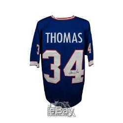 Thurman Thomas Autographed Buffalo Bills Custom Blue Football Jersey JSA COA