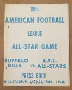 VINTAGE 1965-66 AFL ALL-STARS vs BUFFALO BILLS FOOTBALL PRESS MEDIA GUIDE BOOK