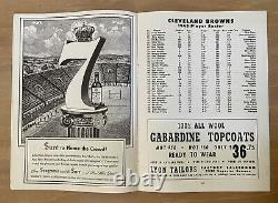 Vintage 1948 Aafc Championship Football Program Buffalo Bills @ Cleveland Browns